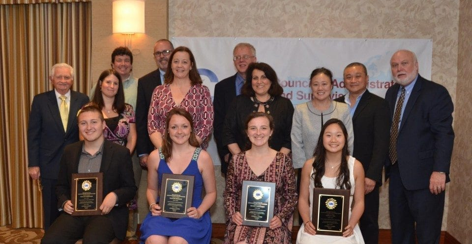 Scholarship recipients and families new